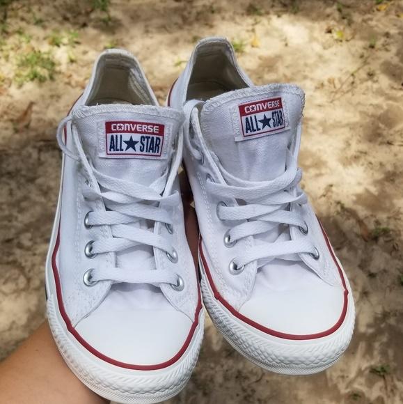 White Converse Chucks Womens Size